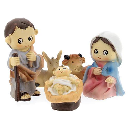 Kids nativity set 5 pcs 10 cm 1