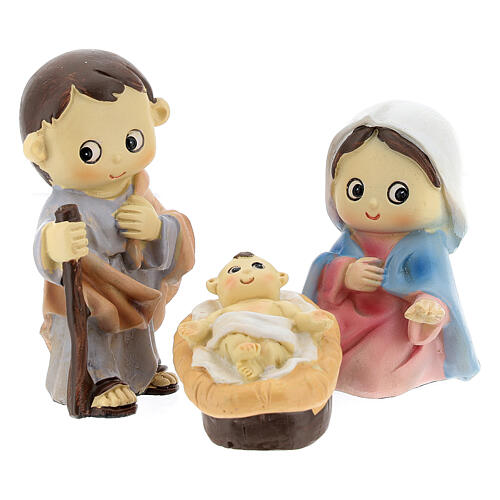 Kids nativity set 5 pcs 10 cm 2