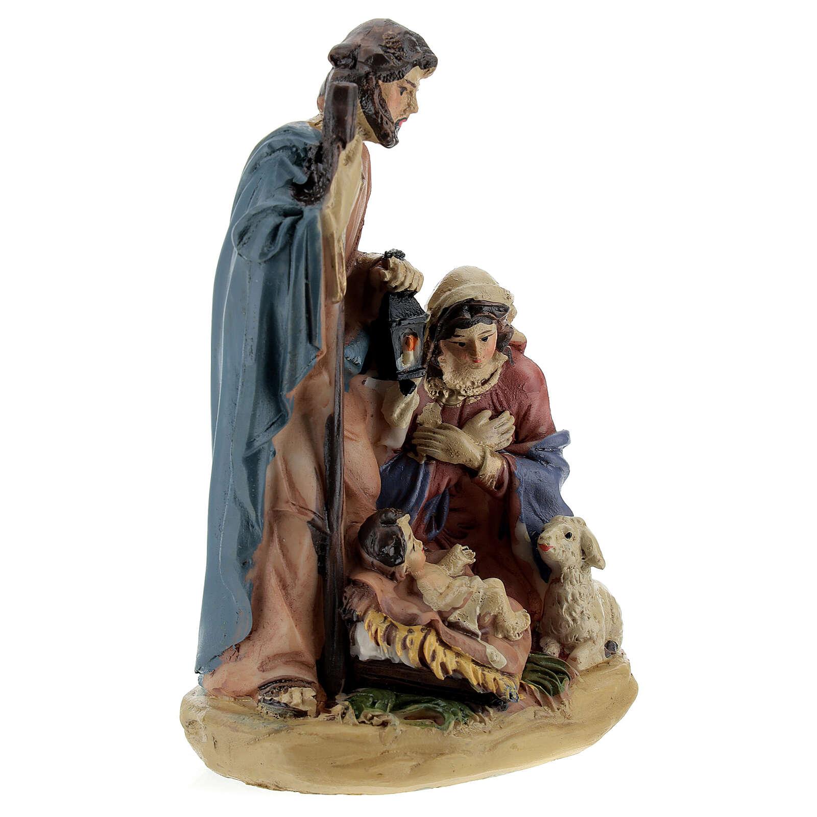 Nativity in coloured resin Nativity scene 12 cm - 4 subjects 3
