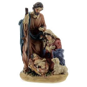 Nativity in coloured resin Nativity scene 12 cm - 4 subjects s1