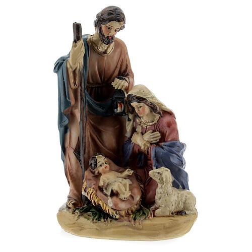 Nativity in coloured resin Nativity scene 12 cm - 4 subjects 1