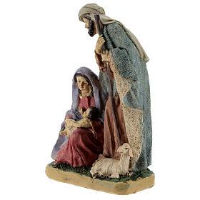 Nativity in coloured resin 20 cm - 4 pcs s2