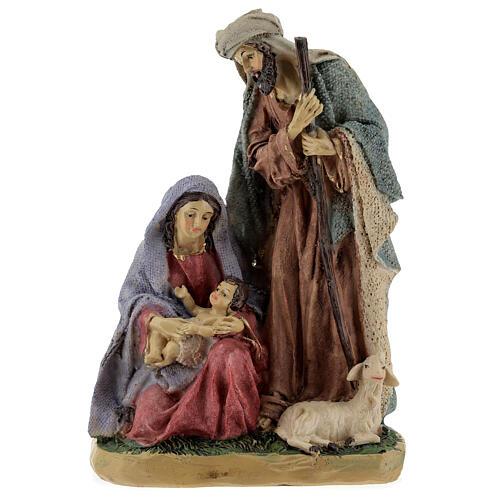 Nativity in coloured resin 20 cm - 4 pcs 1