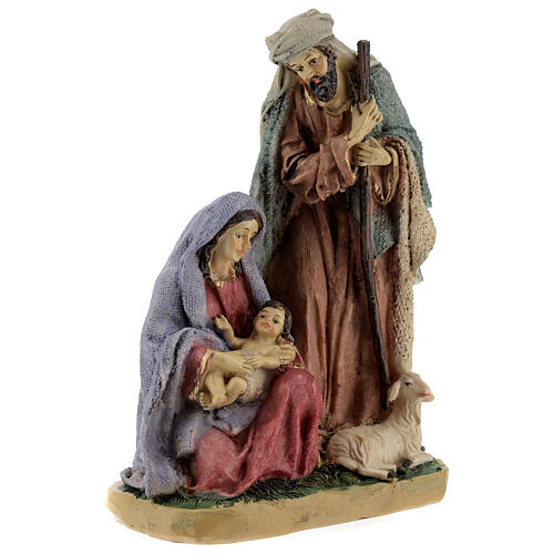 Nativity in coloured resin 20 cm - 4 pcs 3