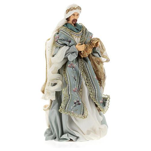 Natività 6 pezzi Blu Gold resina stoffa 40 cm stile veneziano 10