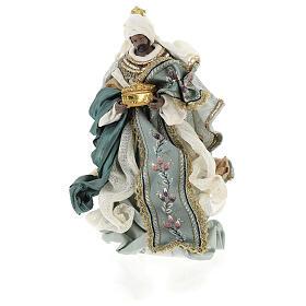 Natività 6 pezzi Blu Gold resina stoffa stile veneziano 30 cm s7