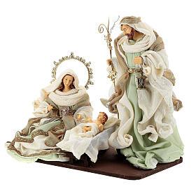 Sacra famiglia resina stoffa stile veneziano 40 cm  s3