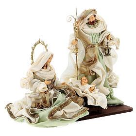 Sacra famiglia resina stoffa stile veneziano 40 cm  s5