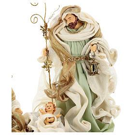 Sacra famiglia resina stoffa stile veneziano 40 cm  s6
