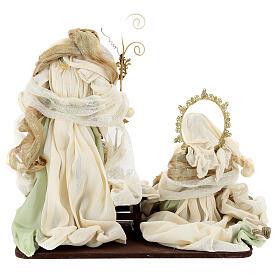 Sacra famiglia resina stoffa stile veneziano 40 cm  s7