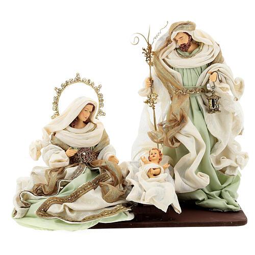 Sacra famiglia resina stoffa stile veneziano 40 cm  1