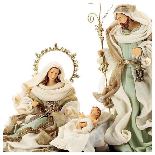 Sacra famiglia resina stoffa stile veneziano 40 cm  2