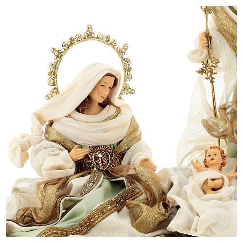 Sacra famiglia resina stoffa stile veneziano 40 cm  4