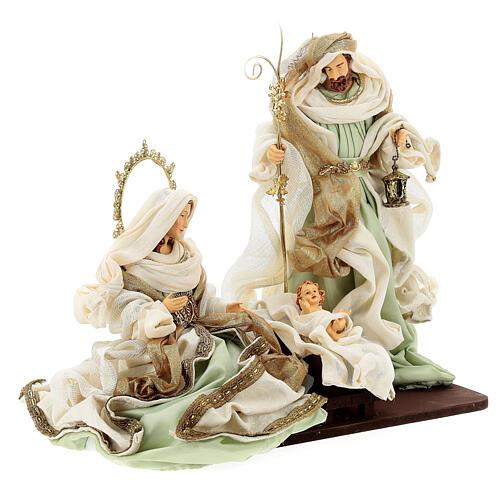 Sacra famiglia resina stoffa stile veneziano 40 cm  5