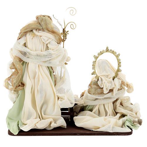 Sacra famiglia resina stoffa stile veneziano 40 cm  7