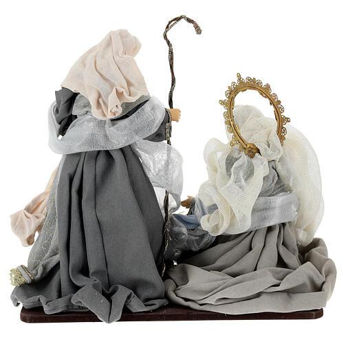 Natività 6 pezzi blu argento resina stoffa 40 cm stile veneziano 12