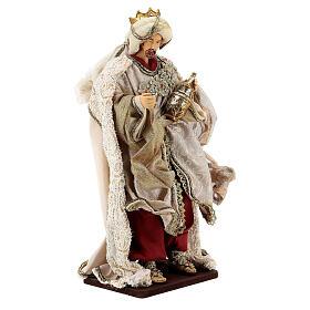 Natività 6 pezzi stile veneziano resina e stoffa rosso oro 40 cm  s10