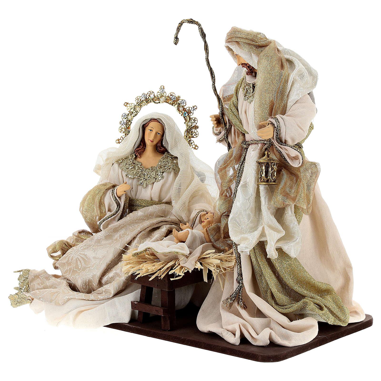 Natività 6 pezzi resina e tessuto stile veneziano 40 cm  4
