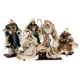 Natività 6 pezzi resina e tessuto stile veneziano 40 cm  s1