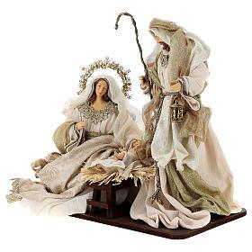 Natività 6 pezzi resina e tessuto stile veneziano 40 cm  s4