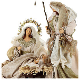 Natività 6 pezzi resina e tessuto stile veneziano 40 cm  s5