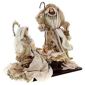 Natività 6 pezzi resina e tessuto stile veneziano 40 cm  s6