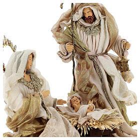 Natività 6 pezzi resina e tessuto stile veneziano 40 cm  s7