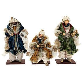 Natività 6 pezzi resina e tessuto stile veneziano 40 cm  s8