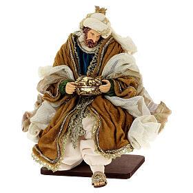 Natività 6 pezzi resina e tessuto stile veneziano 40 cm  s10