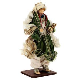 Natività 6 pezzi resina e tessuto stile veneziano 40 cm  s11
