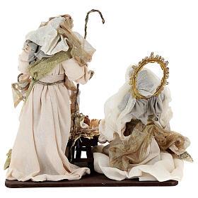 Natività 6 pezzi resina e tessuto stile veneziano 40 cm  s12