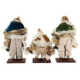 Natività 6 pezzi resina e tessuto stile veneziano 40 cm  s13