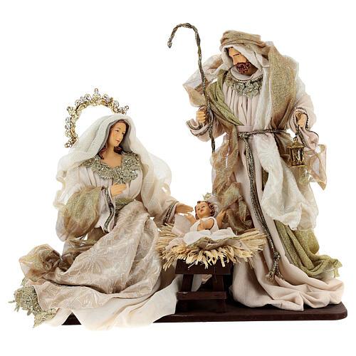 Natività 6 pezzi resina e tessuto stile veneziano 40 cm  2