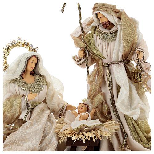 Natività 6 pezzi resina e tessuto stile veneziano 40 cm  3