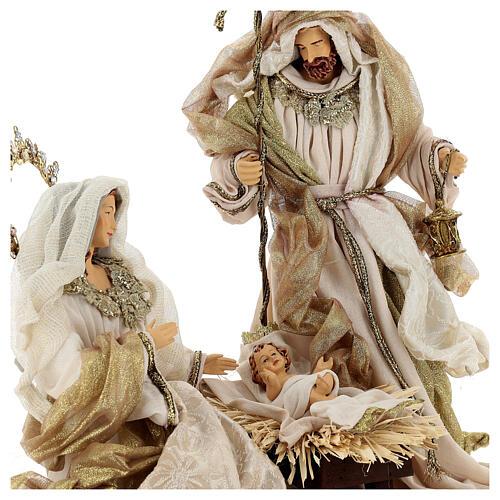 Natività 6 pezzi resina e tessuto stile veneziano 40 cm  7