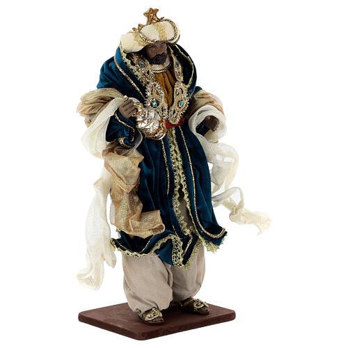 Natività 6 pezzi resina e tessuto stile veneziano 40 cm  9