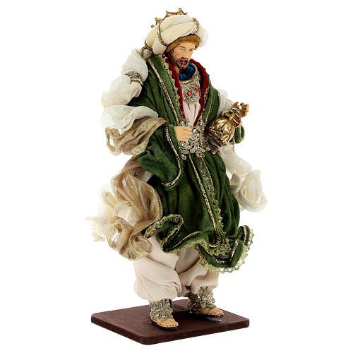 Natività 6 pezzi resina e tessuto stile veneziano 40 cm  11