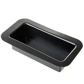 Petit bassin rectangulaire pour Crèche de Noel 23cm s1