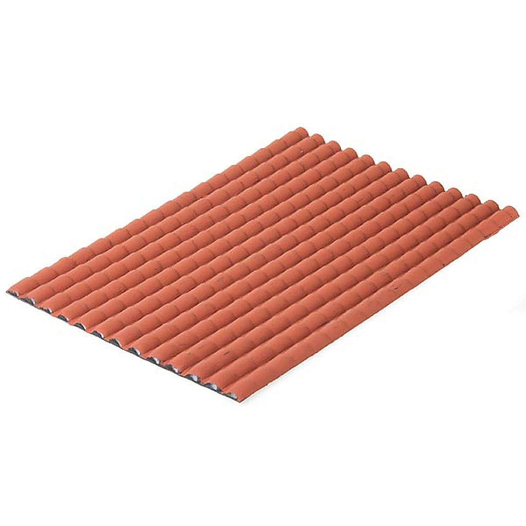 Tejado con teja de color rojo 4