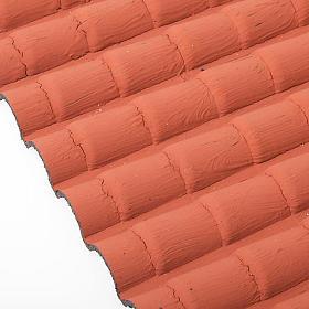 Tejado con teja de color rojo s2