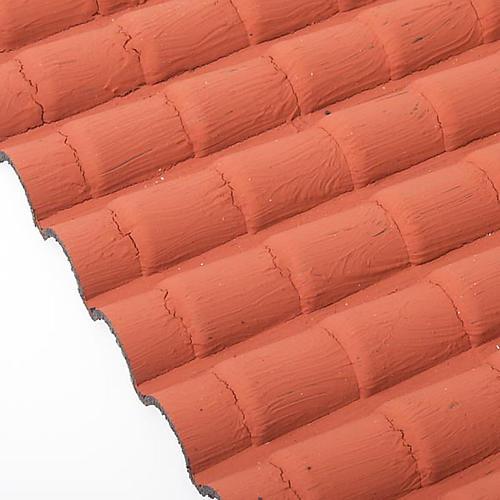 Tejado con teja de color rojo 2