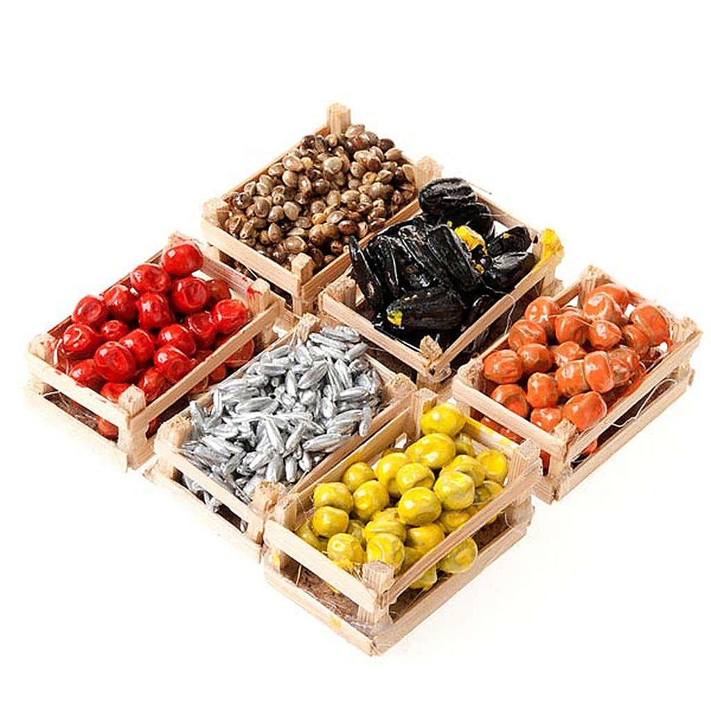 Cajas de fruta pescado para el pesebre pareja de cajas - Cajas de fruta ...