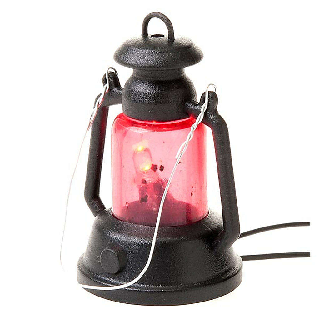 Nativity set accessory, battery-operated lantern 4cm 4