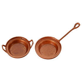 Nativity set accessory, set of 2 pans s1