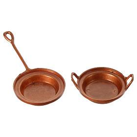 Nativity set accessory, set of 2 pans s2