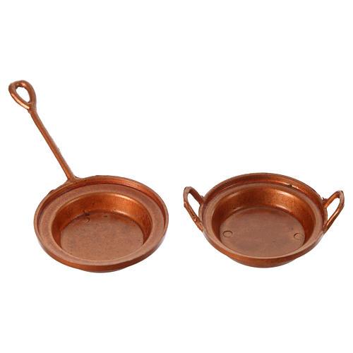 set 2 casserole  laiton 2