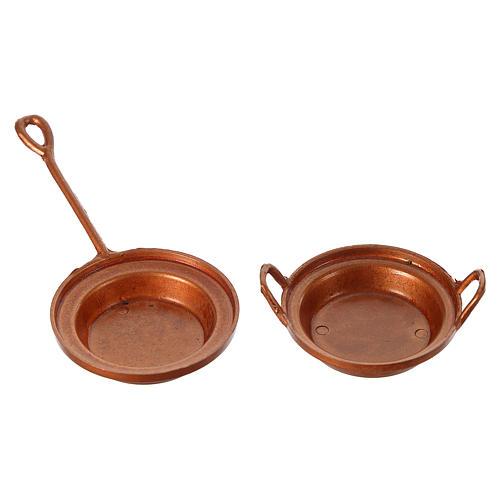 Nativity set accessory, set of 2 pans 2