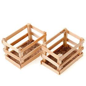 Set cassette in legno per presepe s1