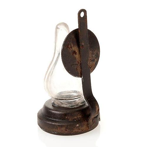 Candeeiro a petróleo miniatura presépio 4 cm 2