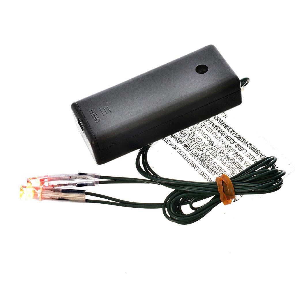 Lichte fuer Krippe: Led-Feuer mit Batterie 4